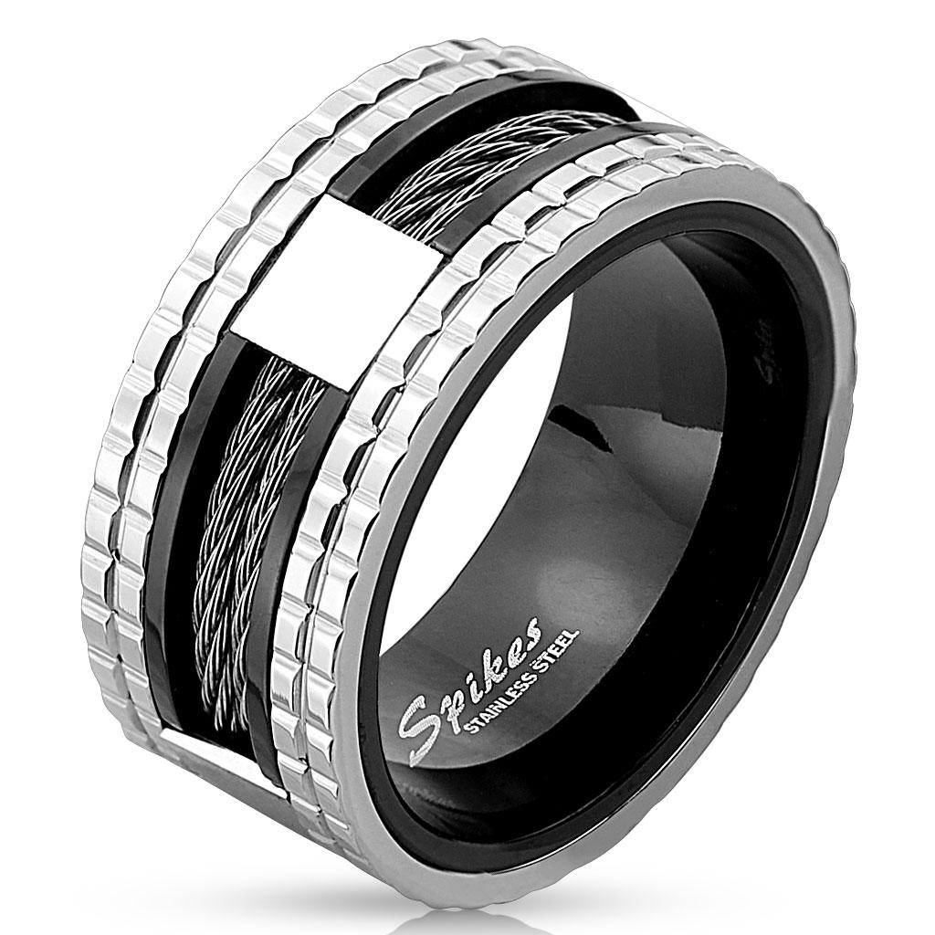 Two Tone Wire Center Stainless Steel IP Ring