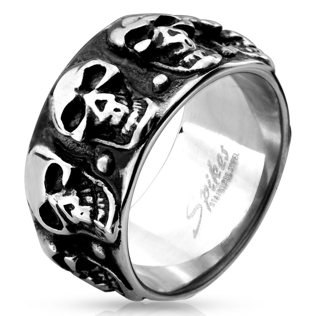 Skull Pattern Cast Stainless Steel Ring