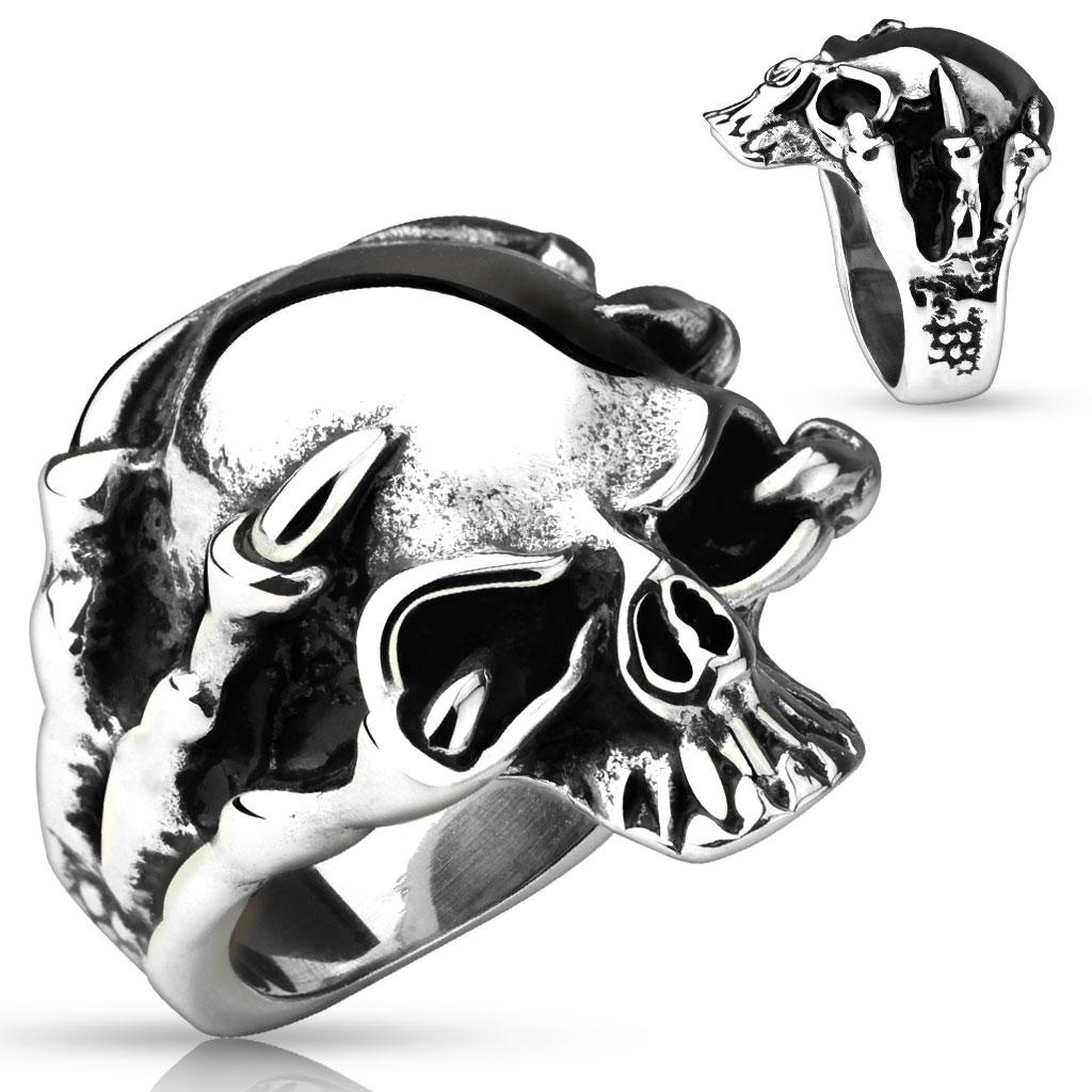 Dragon Claw Skull Cast Ring 316L Stainless Steel