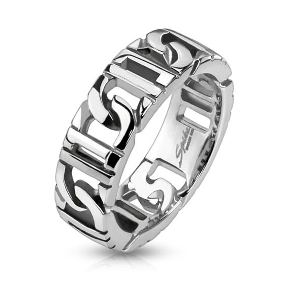 D-Linked Chain Stainless Steel Ring