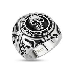 Skull Shield Wide Cast Stainless Steel Ring