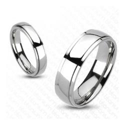 Solid Titanium Classic Beveled Band Ring - Thumbnail 0