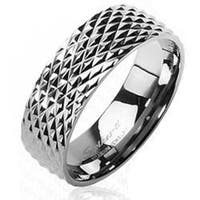 Solid Titanium with Snake Skin Design Ring