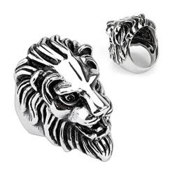 Stainless Steel Lion Head Cast Ring - Thumbnail 0