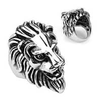 Stainless Steel Lion Head Cast Ring