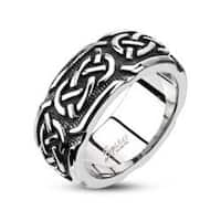 Stainless Steel Continuous Celtic Cast Band Ring