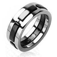 Solid Titanium with Multi Onyx Colored Dexter Ring