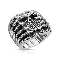 Skull Wide Cast Skeleton Stainless Steel Ring