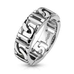 D-Linked Chain Stainless Steel Ring - Thumbnail 0