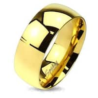Classic Gold IP Solid Titanium Band Ring