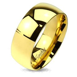 Classic Gold IP Solid Titanium Band Ring (More options available)