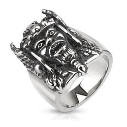 Viking Warrior Cast Stainless Steel Ring