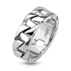 Cuban Link Chain Stainless Steel Ring - Thumbnail 0