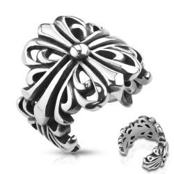 Wrapping Cast Celtic Cross Stainless Steel Ring - Thumbnail 0