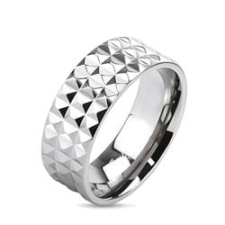 Pyramid Spikes Wide Band Ring Solid Titanium - Thumbnail 0