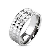 Pyramid Spikes Wide Band Ring Solid Titanium