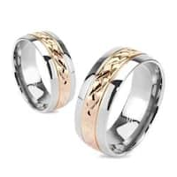 Strip Rose Gold IP Solid Titanium Band Ring