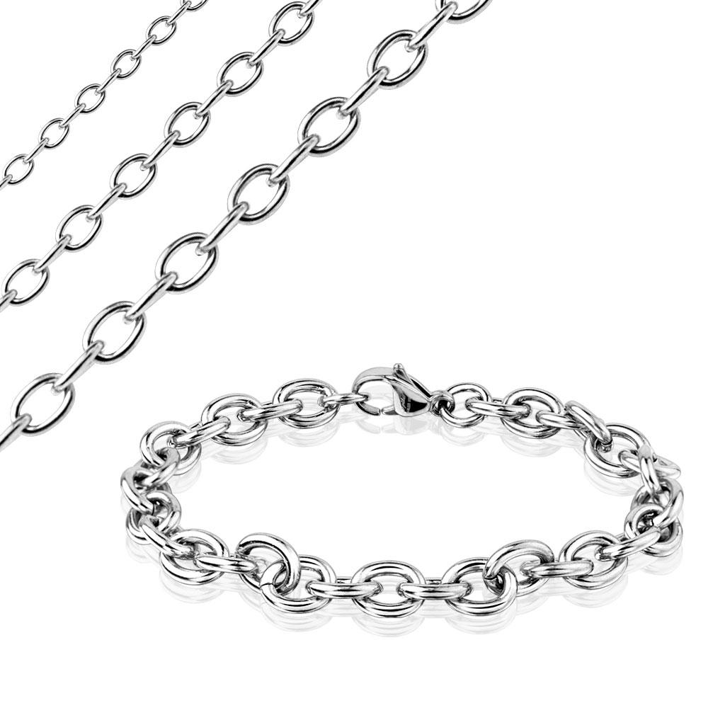 Plain Cable Chain Stainless Steel Bracelet