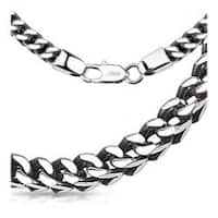 Stainless Steel Box Weave Chain Link Necklace - 24 inch