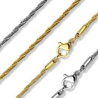 Diamond-Cut Twisted Round Chain Necklaces 316L Stainless Steel (7.8 mm) - 17 in