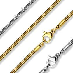 Square Snake Chain Necklace 316L Stainless Steel (7.8 mm) - 17 in