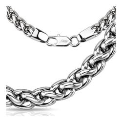 Stainless Steel Multi Tangled Weave Chain Link Necklace -24 inch