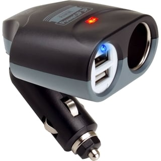 ReVIVE PowerUP Universal 3-Port Portable Car Charger & Adapter with Dual USB Ports & DC Splitter