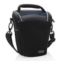 DSLR Camera Shoulder Sling Holster Case with Adjustable Dividers and Top Loading by USA Gear