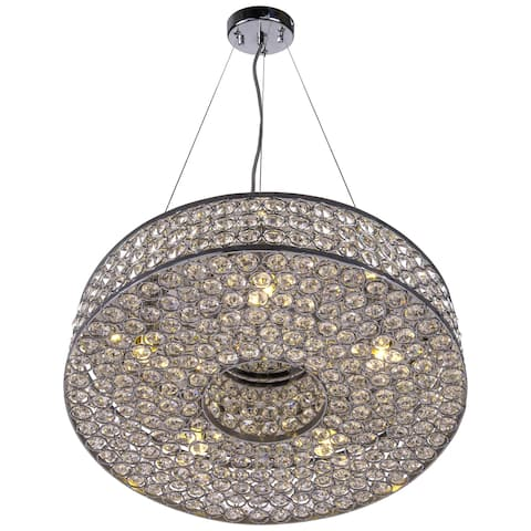 Joshua Marshal Home Collection 5 Light Round Pendant with Clear European Crystals