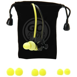 AudiOHM iDX In-Ear Headphones with Noise Isolation, Tangle Free Cord and Custom Silicone Gels (Black & Yellow)