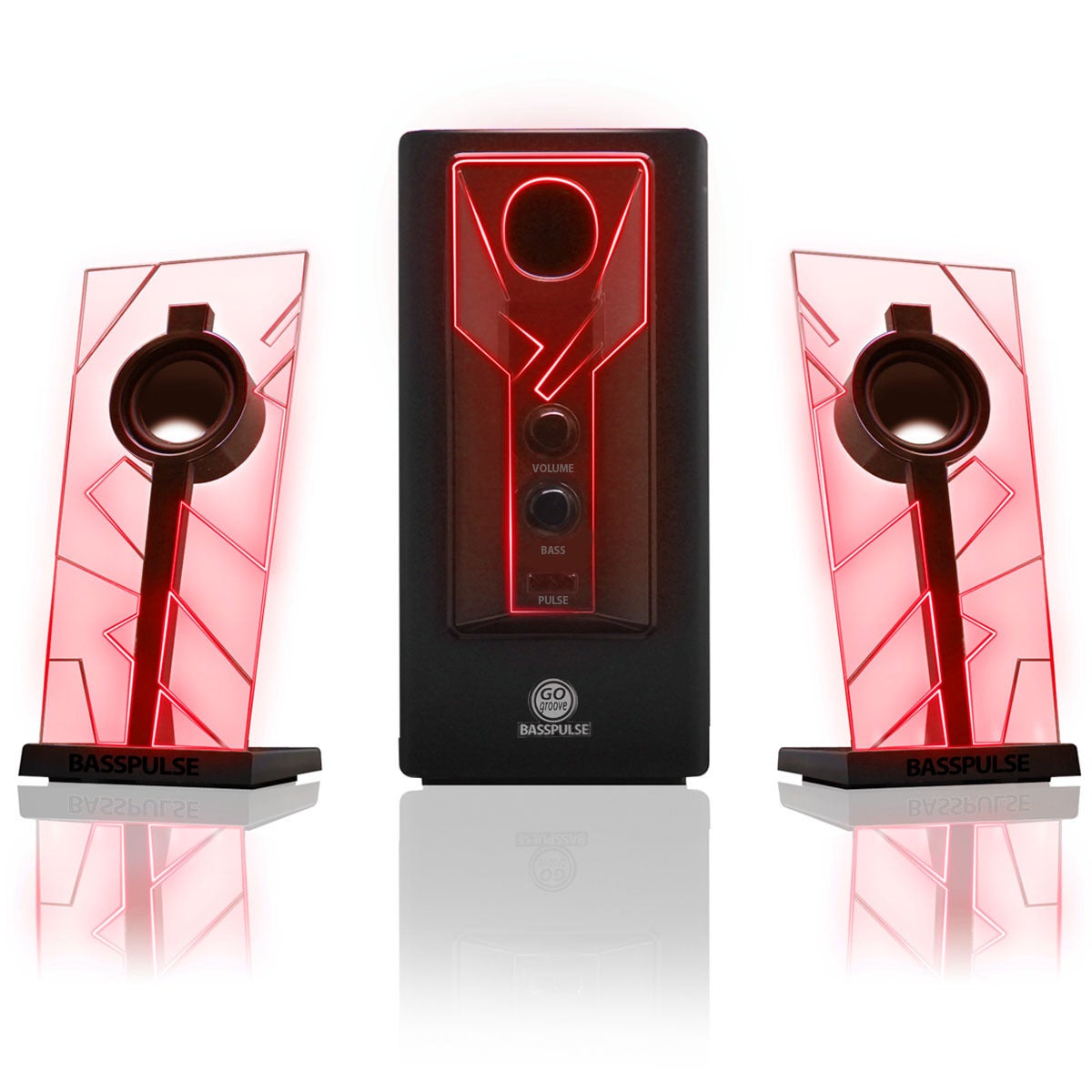 Bass GOgroove BassPULSE 2.1 Computer Stereo Speakers with...
