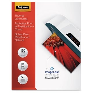 Fellowes Glossy Pouches - Letter, 5mil, 150 Pack
