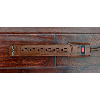 Invisiplug Llc DO004 Dark Oak Deluxe Surge Protector with 6 Outlets