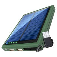 ReVIVE ReStore SL5000 Solar Charger and 5000mAh Battery Pack with USB Charging Ports and Cable