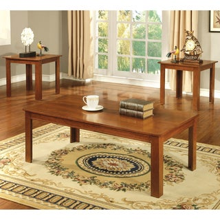 Furniture of America Damien Transitional 3-Piece Accent Table Set
