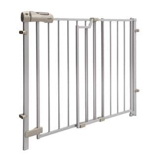 Evenflo Taupe Easy Walk Thru Top Of Stair Metal Gate