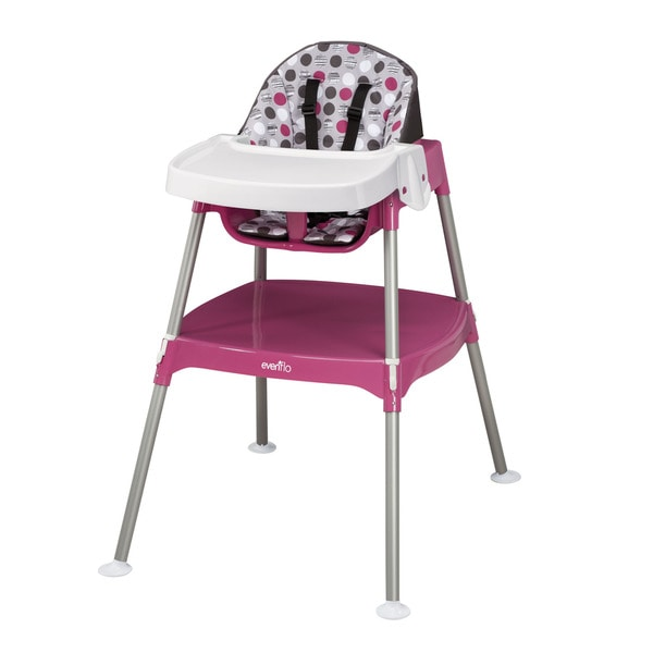 Evenflo Dottie Rose Pink Convertible 3-in-1 High Chair