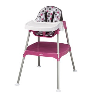 Evenflo Dottie Rose Pink Convertible 3 In 1 High Chair