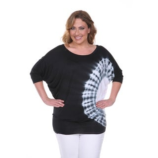 White Mark Women's Plus-size Tie Dye Tunic Top