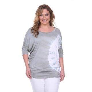 White Mark Women's Plus-size Tie Dye Tunic Top