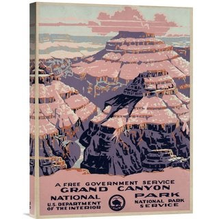 Global Gallery WPA 'Grand Canyon National Park, a Free Government Service, ca. 1938' Stretched Canvas Art