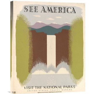 Big Canvas Co. Harry Herzog 'See America Visit the National Parks, ca. 1936-1940' Stretched Canvas Art