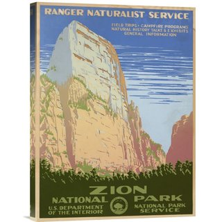 Big Canvas Co. Ranger Naturalist Service 'Zion National Park, ca. 1938' Stretched Canvas Art