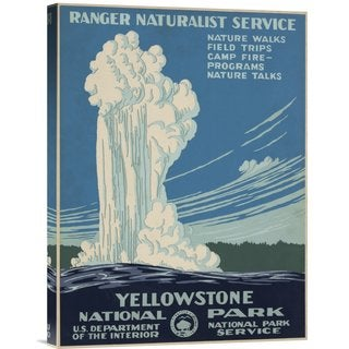 Big Canvas Co. Ranger Naturalist Service 'Yellowstone National Park, ca. 1938' Stretched Canvas Art