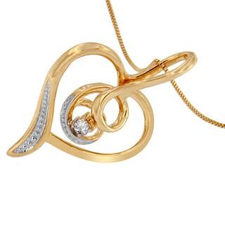 Espira 10k yellow gold heart pendant with diamond