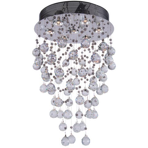 Joshua Marshal 700063-001 7-light Chrome Round Pendant with Crystals