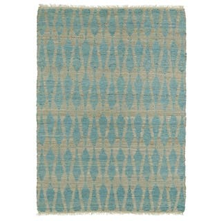 Handmade Natural Fiber Canyon Teal Rug (8' x 11')|https://ak1.ostkcdn.com/images/products/9908310/P17066881.jpg?impolicy=medium