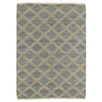 Handmade Natural Fiber Cayon Slate Lattice Rug - 8' x 11'