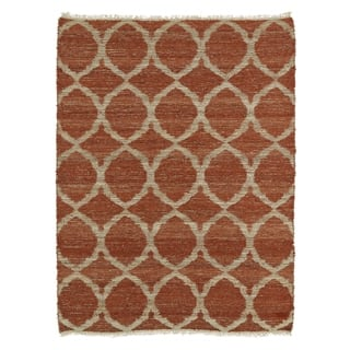 Handmade Natural Fiber Cayon Rust Lattice Rug (8' x 11')|https://ak1.ostkcdn.com/images/products/9908319/P17066872.jpg?impolicy=medium