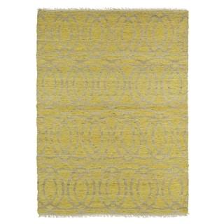 Handmade Natural Fiber Canyon Yellow Circles Rug (8' x 11') https://ak1.ostkcdn.com/images/products/9908382/P17066926.jpg?impolicy=medium